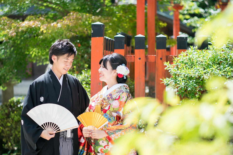 神社での婚礼撮影