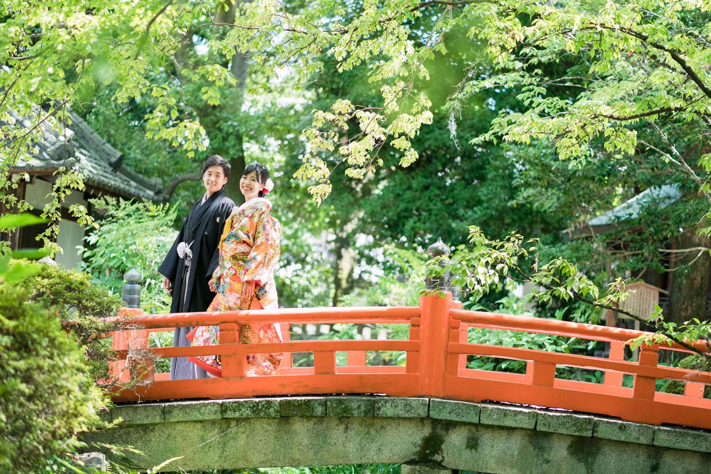 今宮神社のお太鼓橋