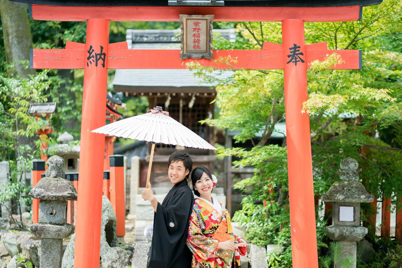 京都の今宮神社さんで和装婚礼