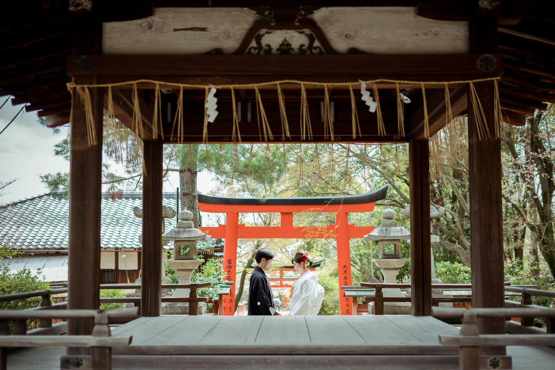 竹中稲荷神社にて