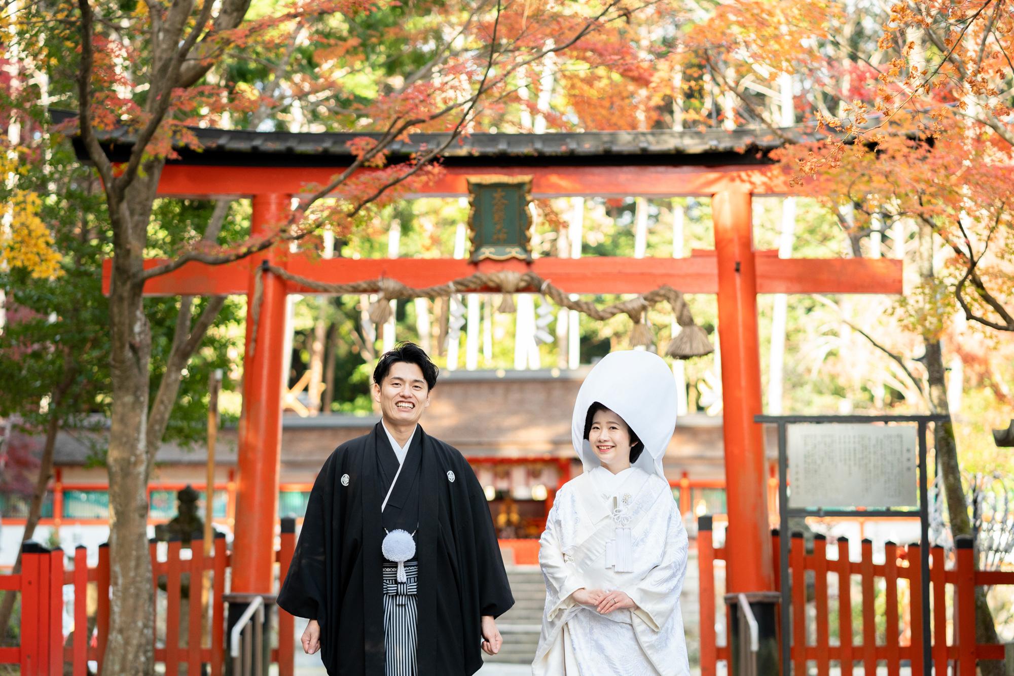 京都の大原野神社、鳥居前