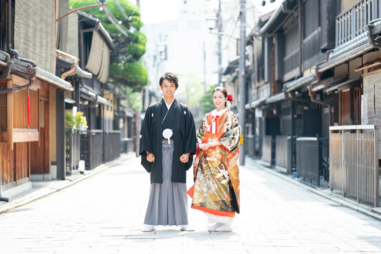 祇園新橋にて、和装前撮りイメージ