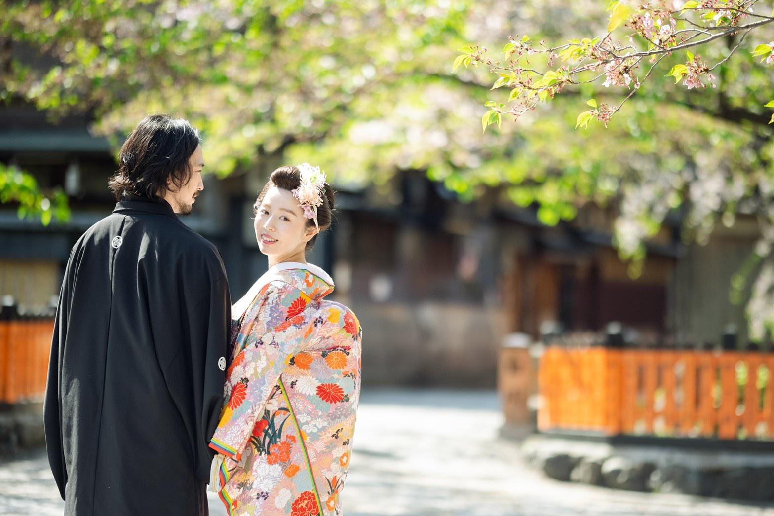 葉桜の祇園