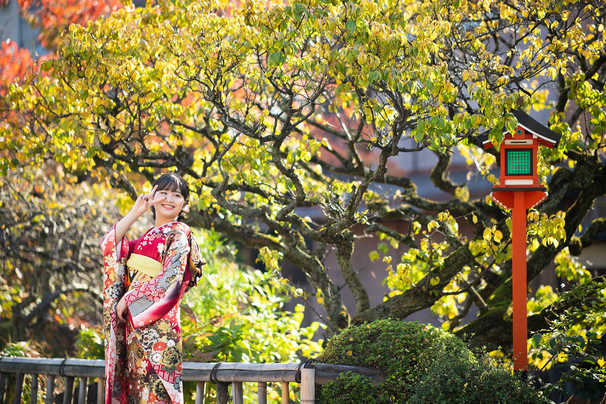 祇園で振袖撮影