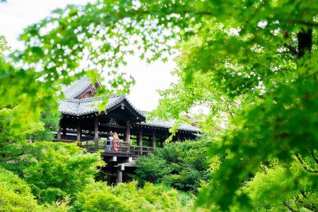 京都の東福寺で和装前撮り