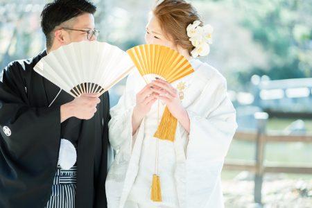 花嫁花婿の扇子