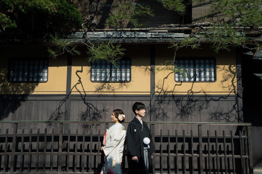 京都前撮りの祇園新橋にて