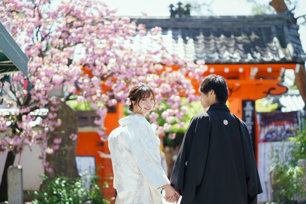 八坂庚申堂の八重桜