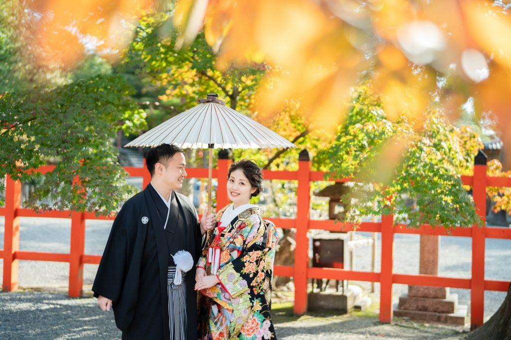京都の吉田神社の紅葉