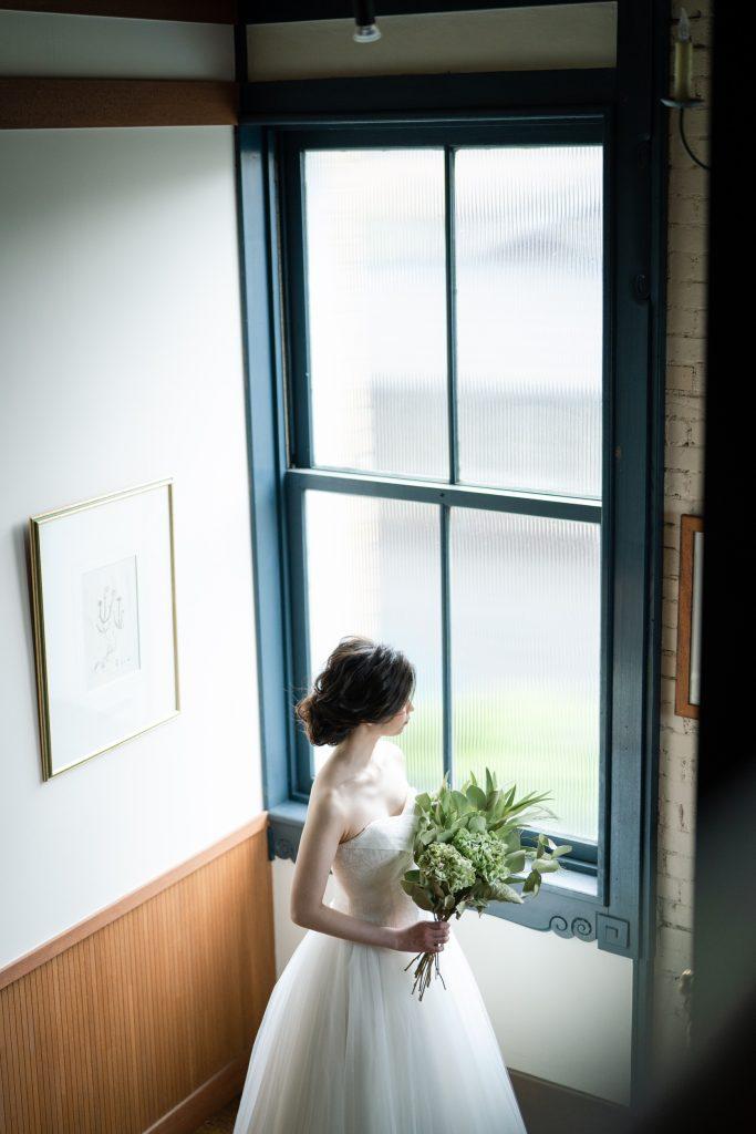 ウェディングドレスの俯瞰イメージ