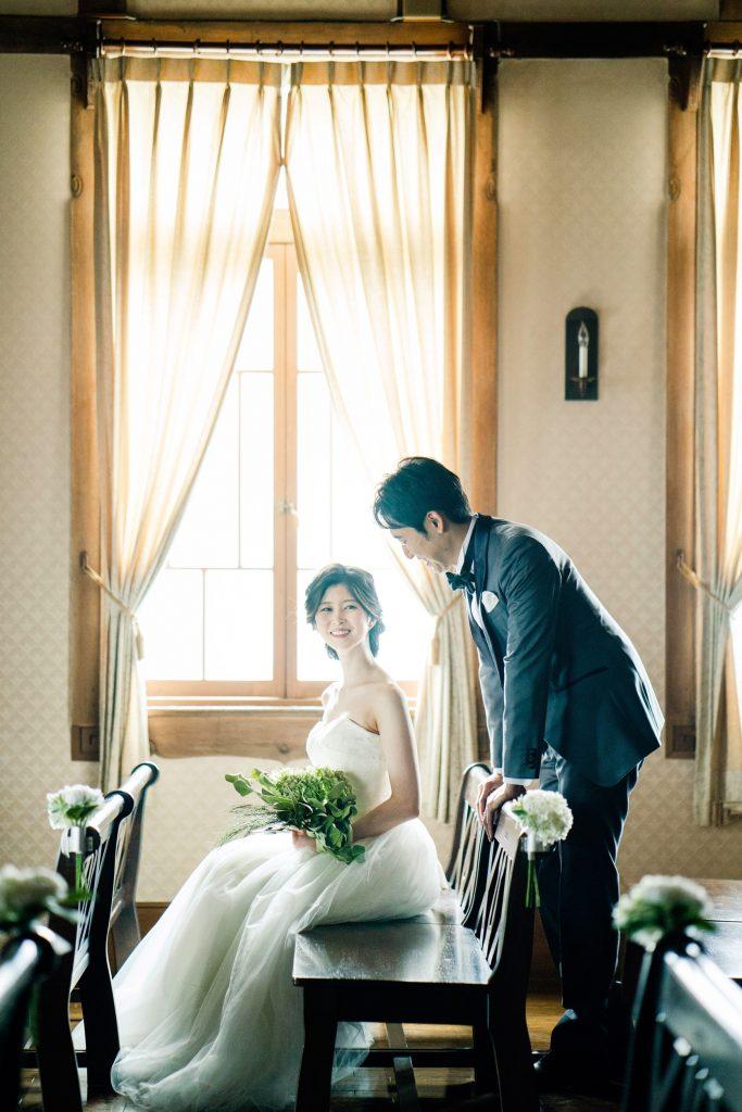 京都のパビリオンコートにて洋装前撮り
