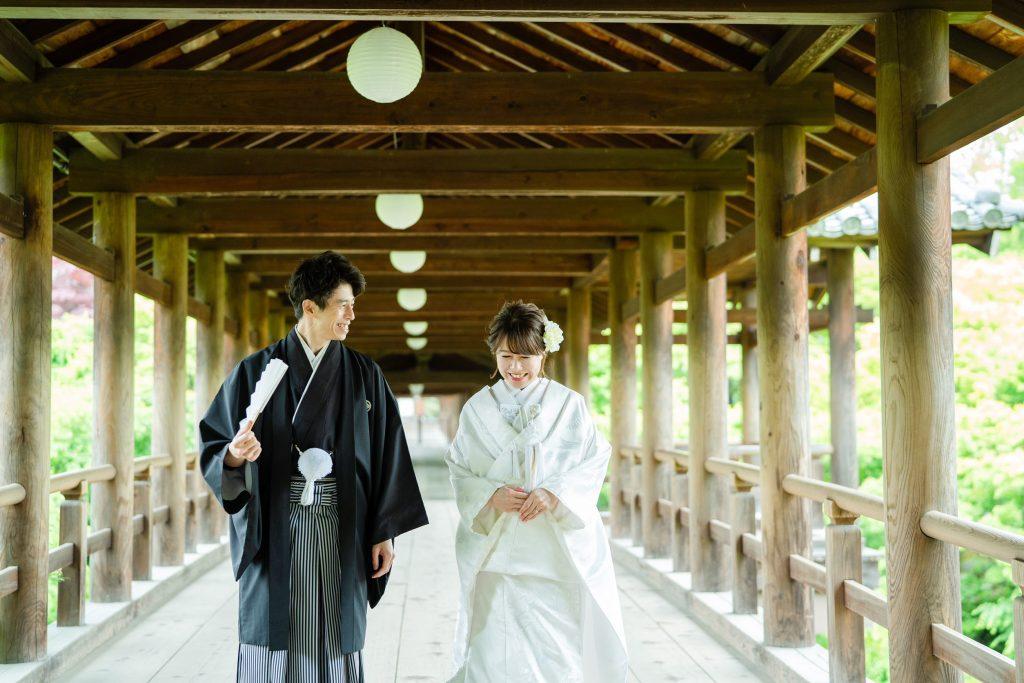 東福寺の通天橋で前撮り