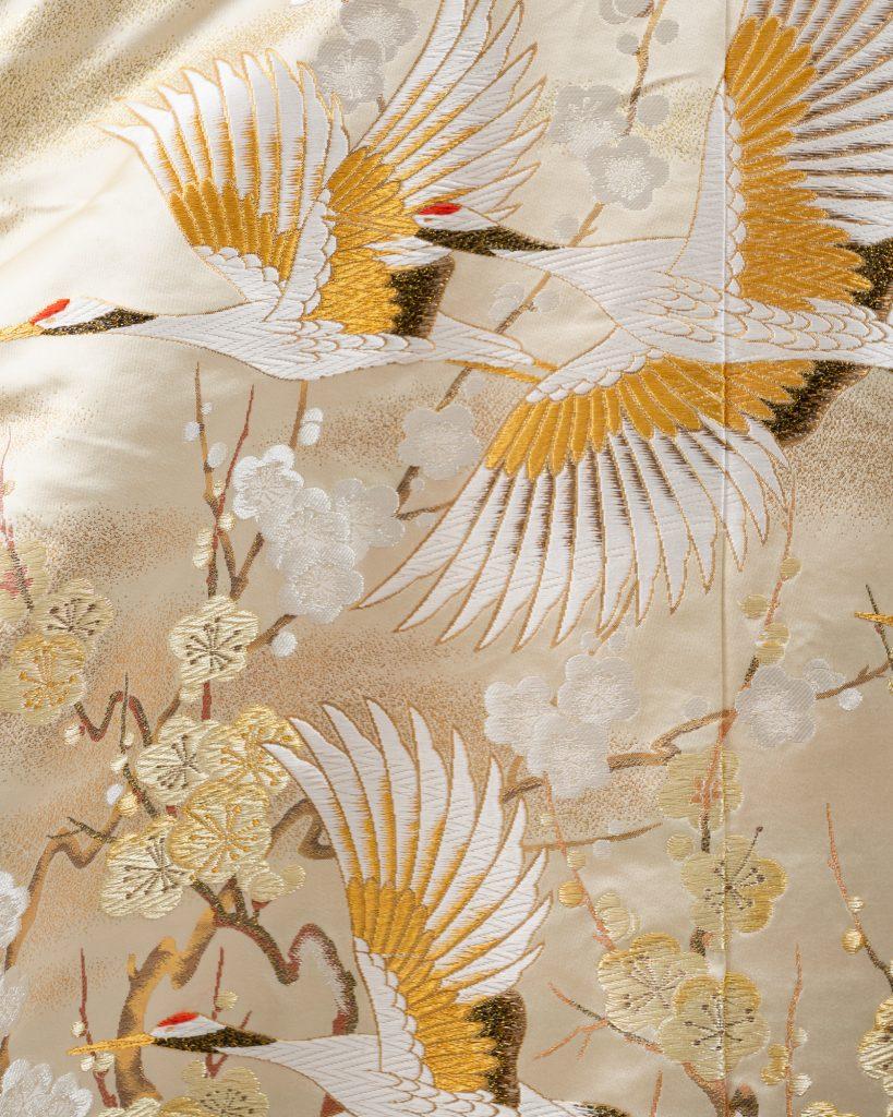 色打掛の柄「鶴」